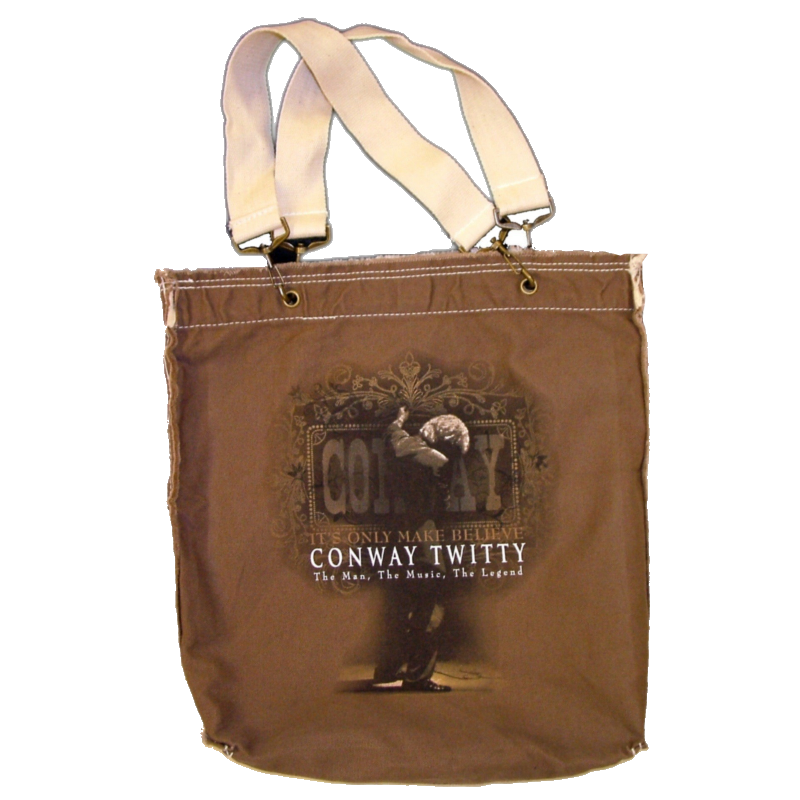 Conway Twitty Brown Tote Bag