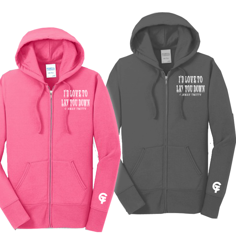Conway Twitty Lay You Down Zip Up Hoodie