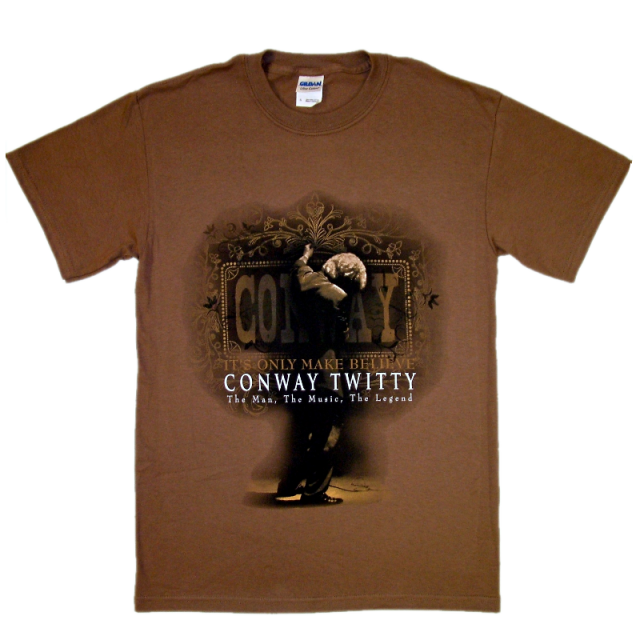 Conway Twitty Chestnut Brown Musical Tee