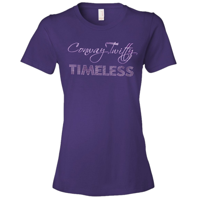 Conway Twitty Ladies Purple Timeless Tee