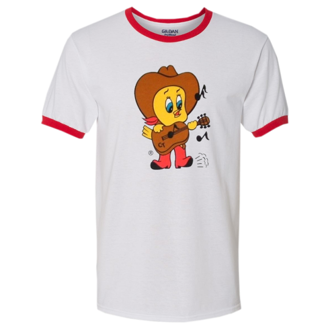 Conway Twitty White and Red Ringer Tee