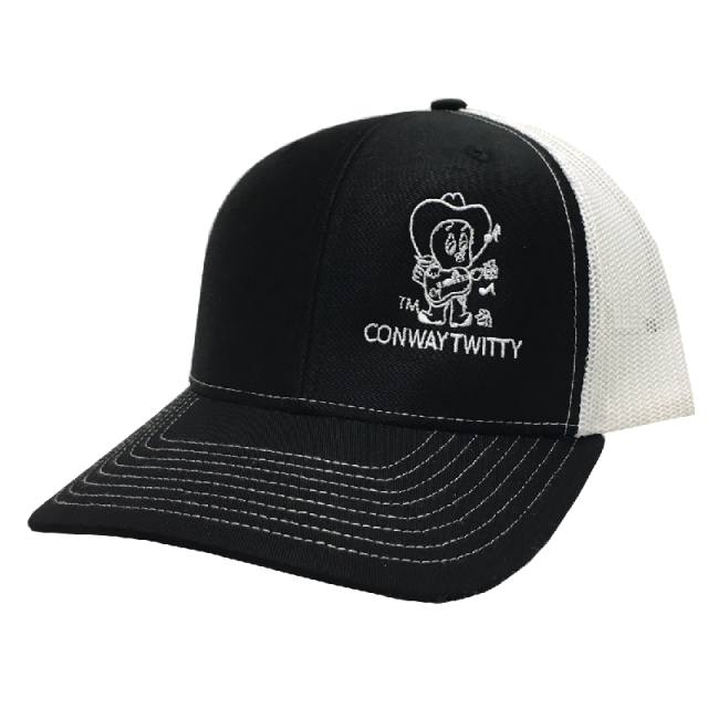 Conway Twitty Black and White Ballcap