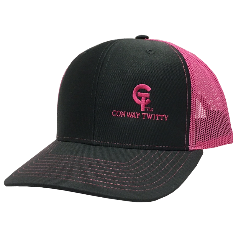 Conway Twitty Charcoal and Pink Ballcap