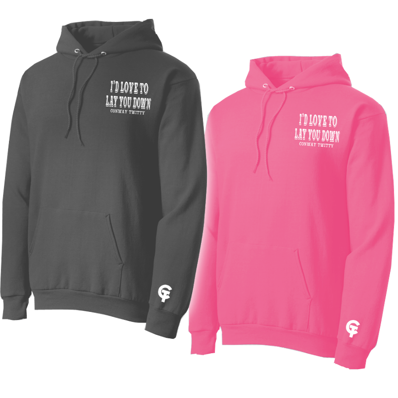 Conway Twitty Lay You Down Pullover Hoodie