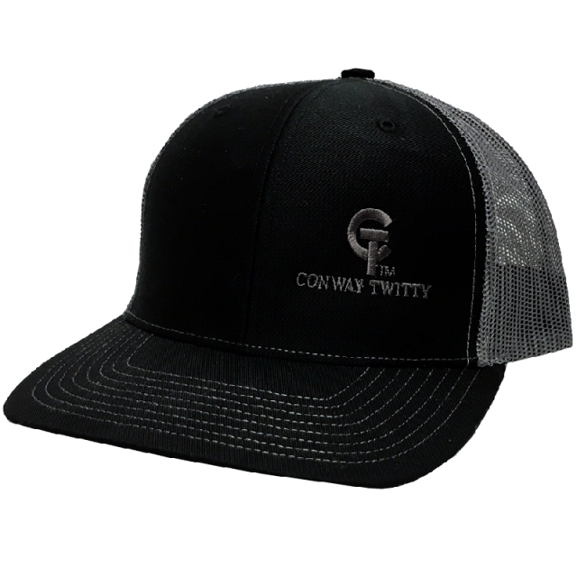 Conway Twitty Black and Charcoal Ballcap